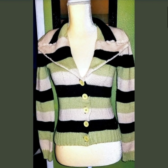 Betsey Johnson Sweaters - Vintage Betsey Johnson striped sweater Cardigan